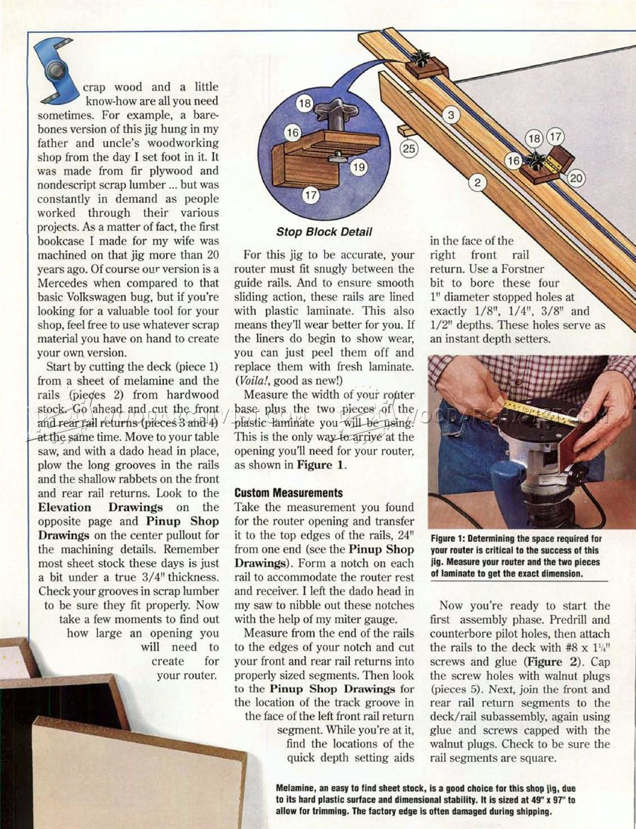 Dado Router Jig Plans