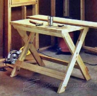 2829-Folding Work Table Plans