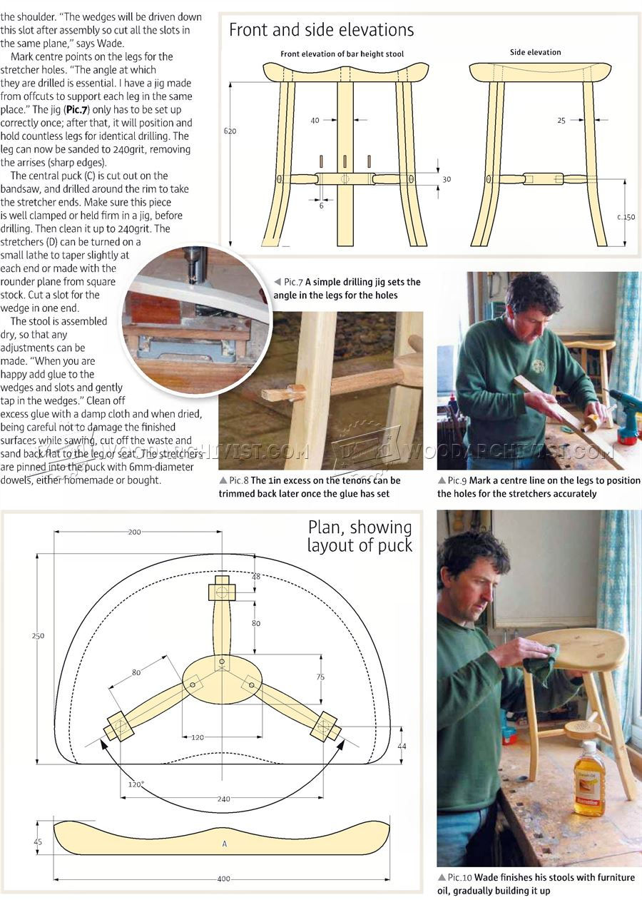 Three Legged Stool Plans