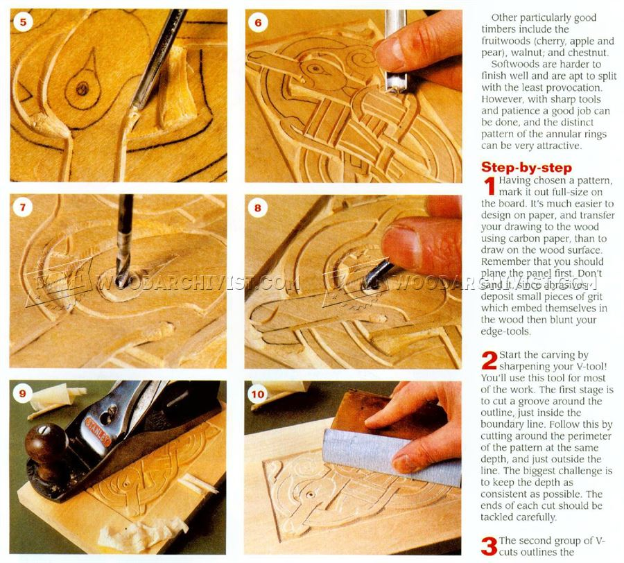 Celtic Wood Carving Woodarchivist