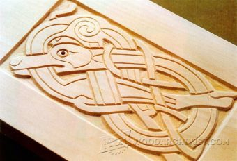2832-Celtic Wood Carving