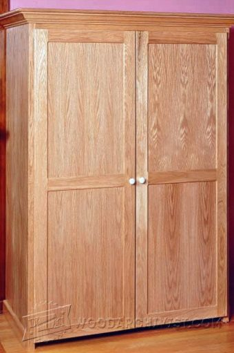 Rustic Armoire Plans Woodarchivist