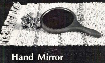 2837-Making  Wooden Hand Mirror