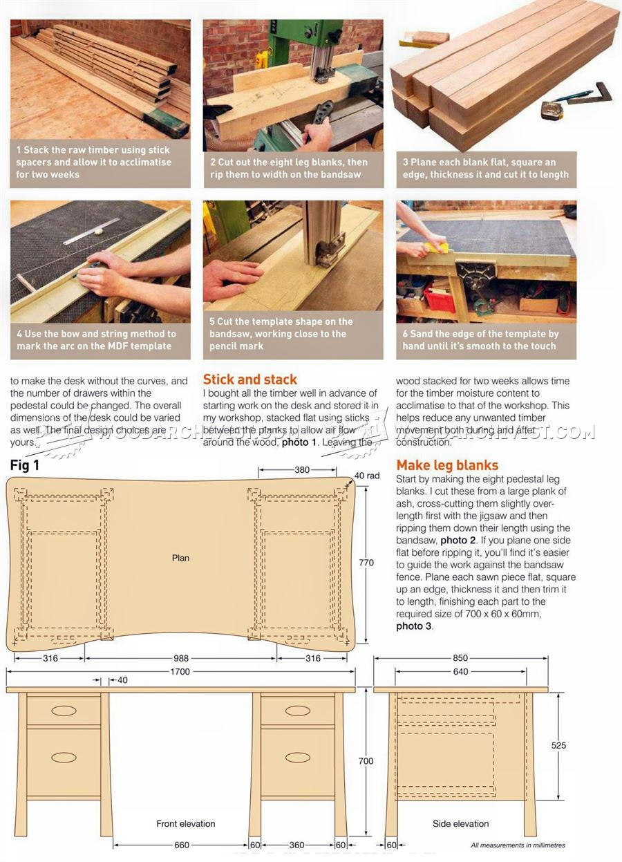 Twin Pedestal Desk Plans