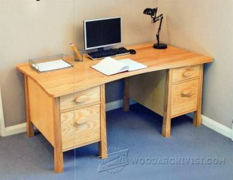 2844-Twin Pedestal Desk Plans