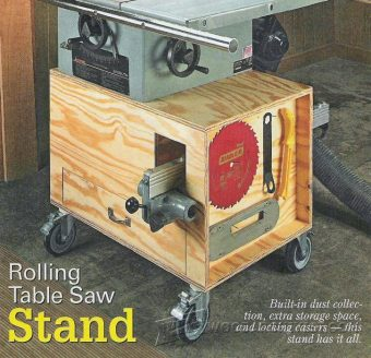 2855-Rolling Table Saw Stand Plans