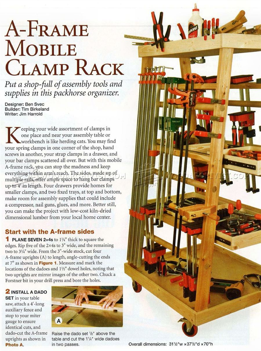 Mobile Clamp Rack Plans