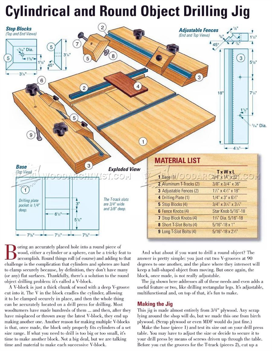 #2861 Cylindrical and Round Object Drilling Jig