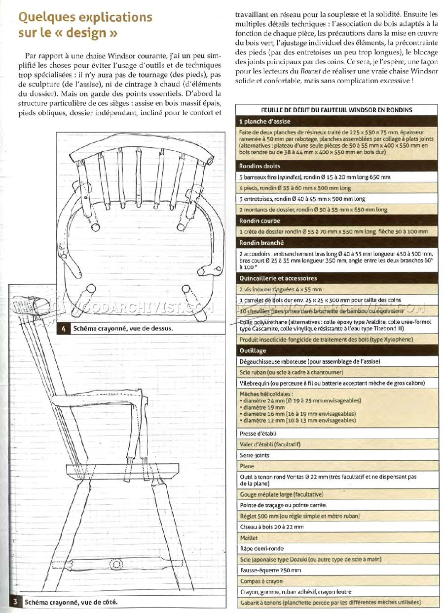 Rustic Chair Plans