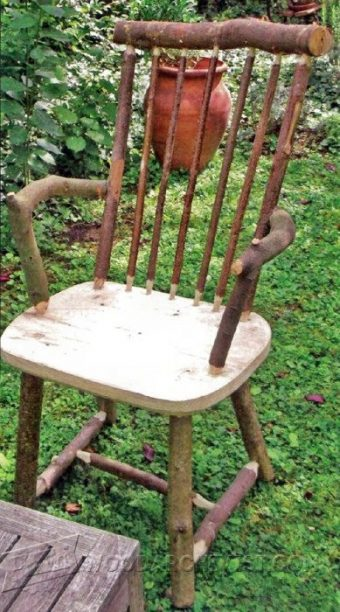 2864-Rustic Windsor Chair Plans