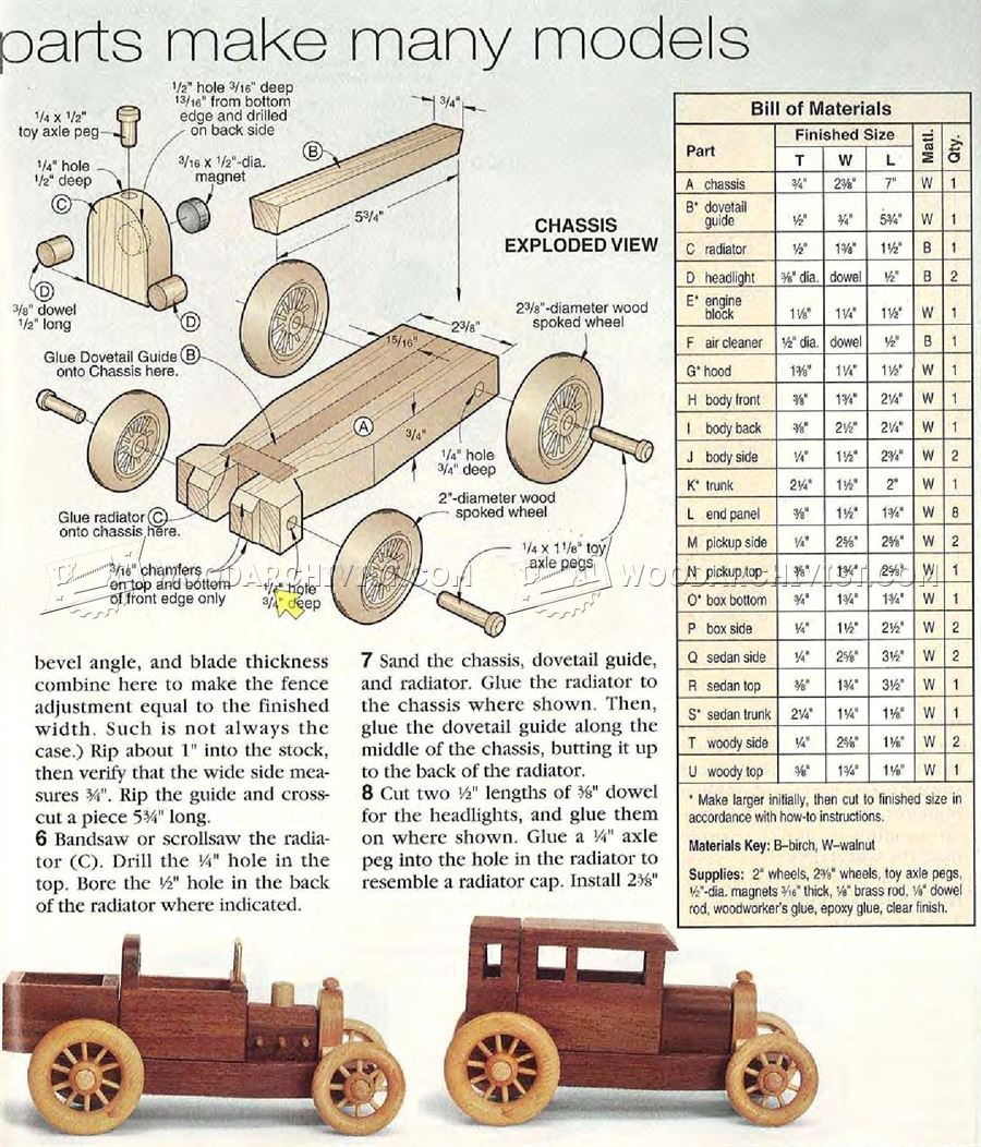 2865 Wooden Toy Car Plans - Wooden Toy Plans