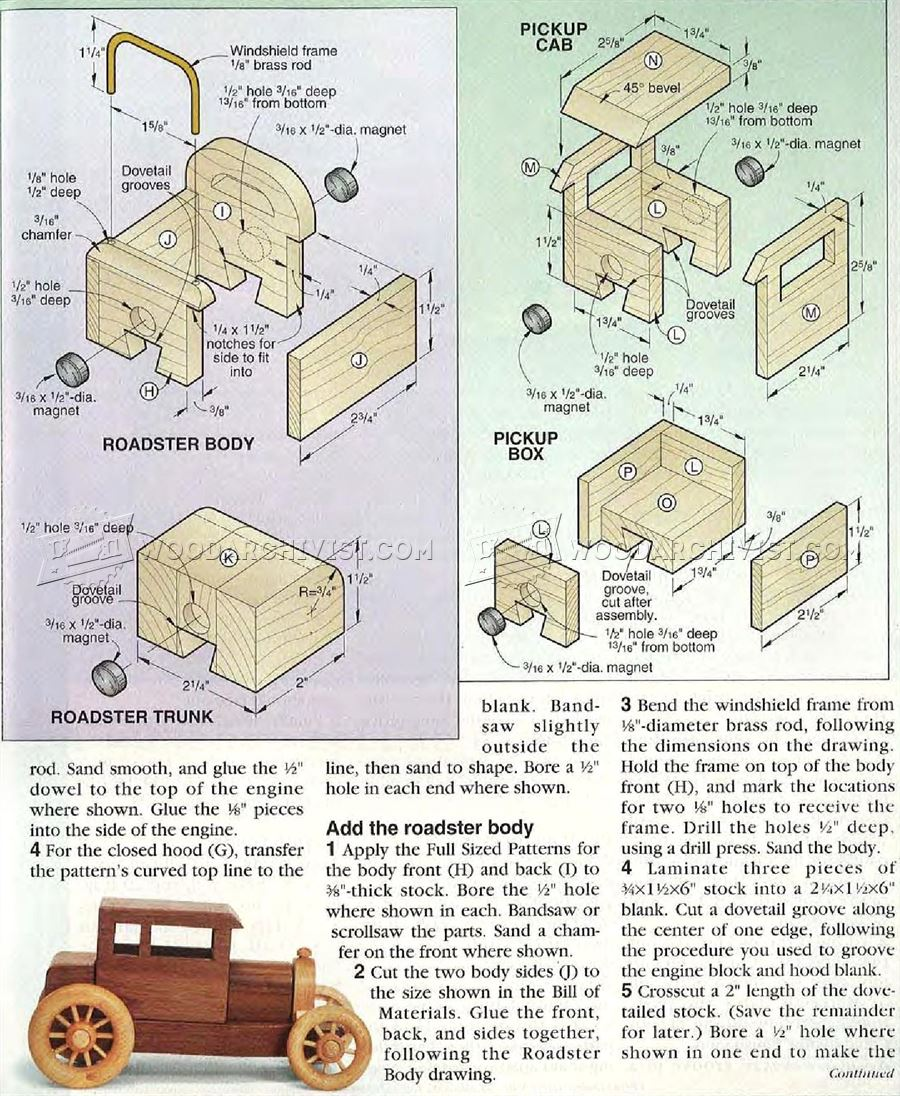 Toy Car Plans : Wooden toy car plans woodarchivist
