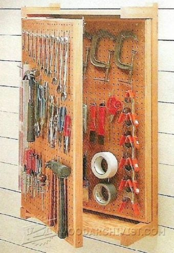 2868-Pegboard Storage Rack Plans