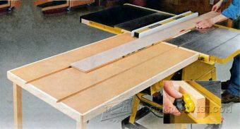 2871-Build Table Saw Outfeed Table