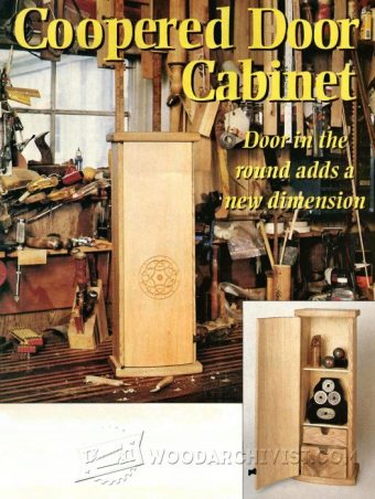 2872-Coopered Door Cabinet Plans