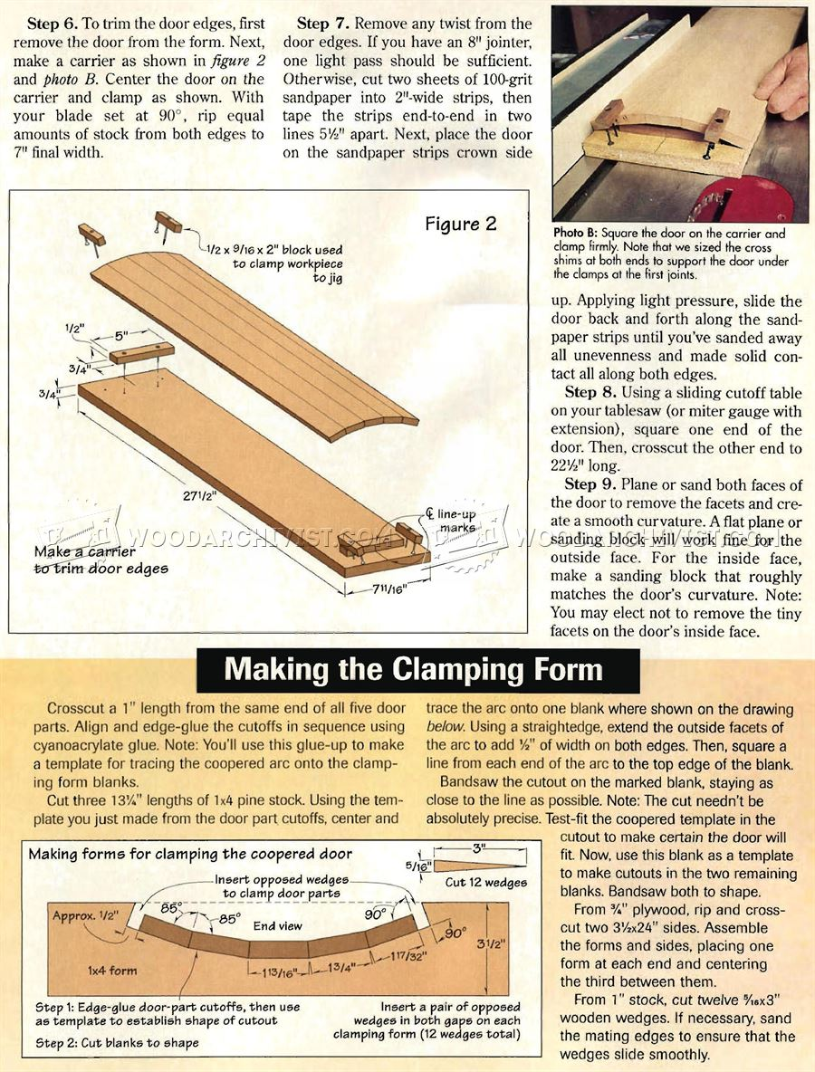Coopered Door Cabinet Plans