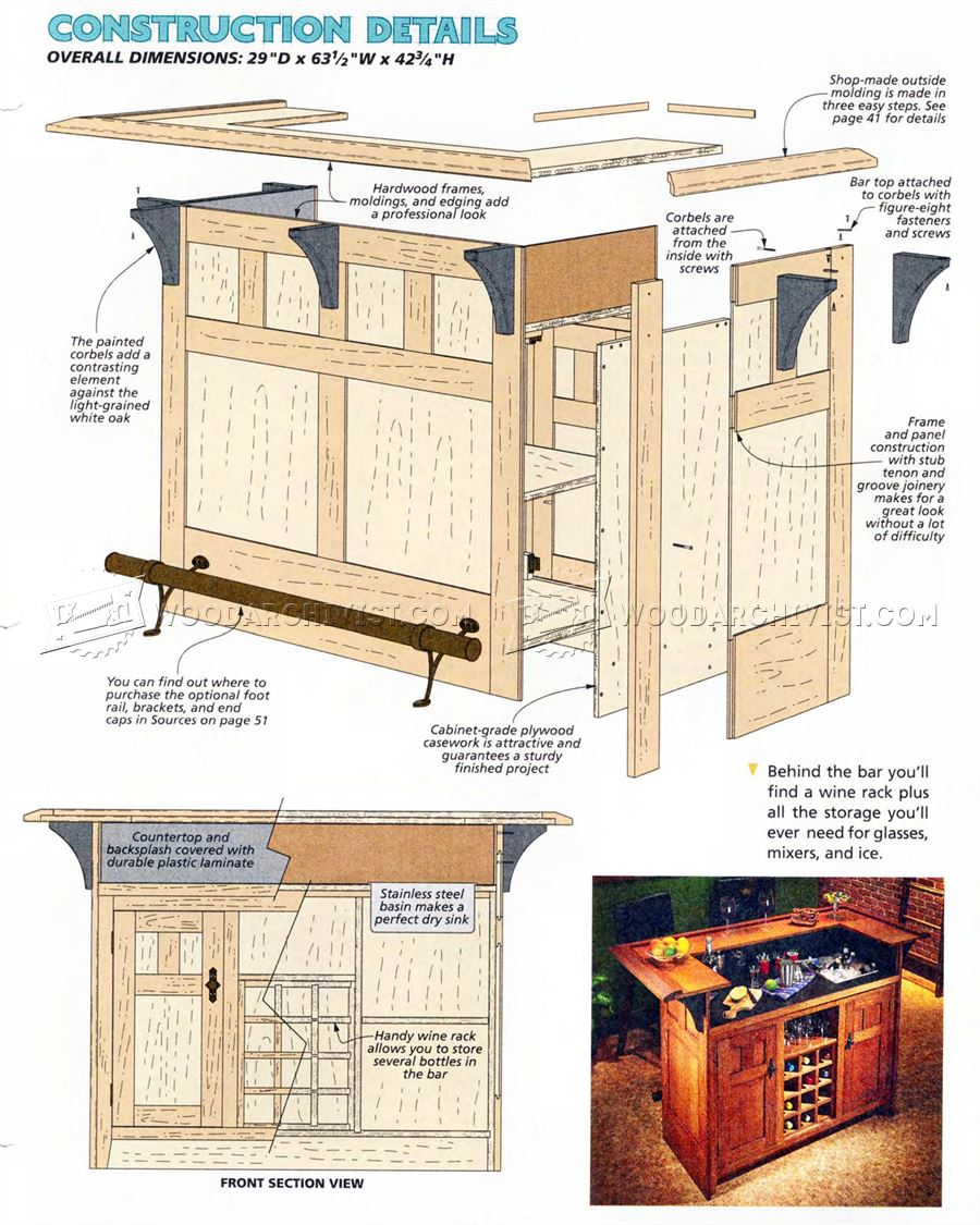 52 Basement Bar Build Building A Basement Bar Barplancom: Home Bar Plans • WoodArchivist