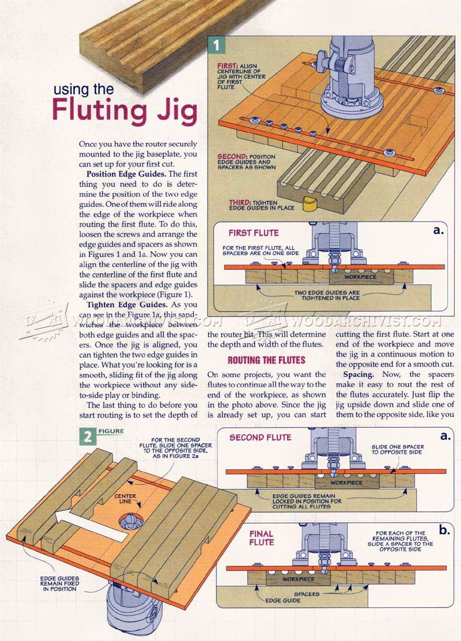 Diy Router Fluting Jig Woodarchivist