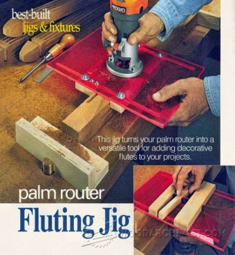 2881-DIY Router  Fluting Jig