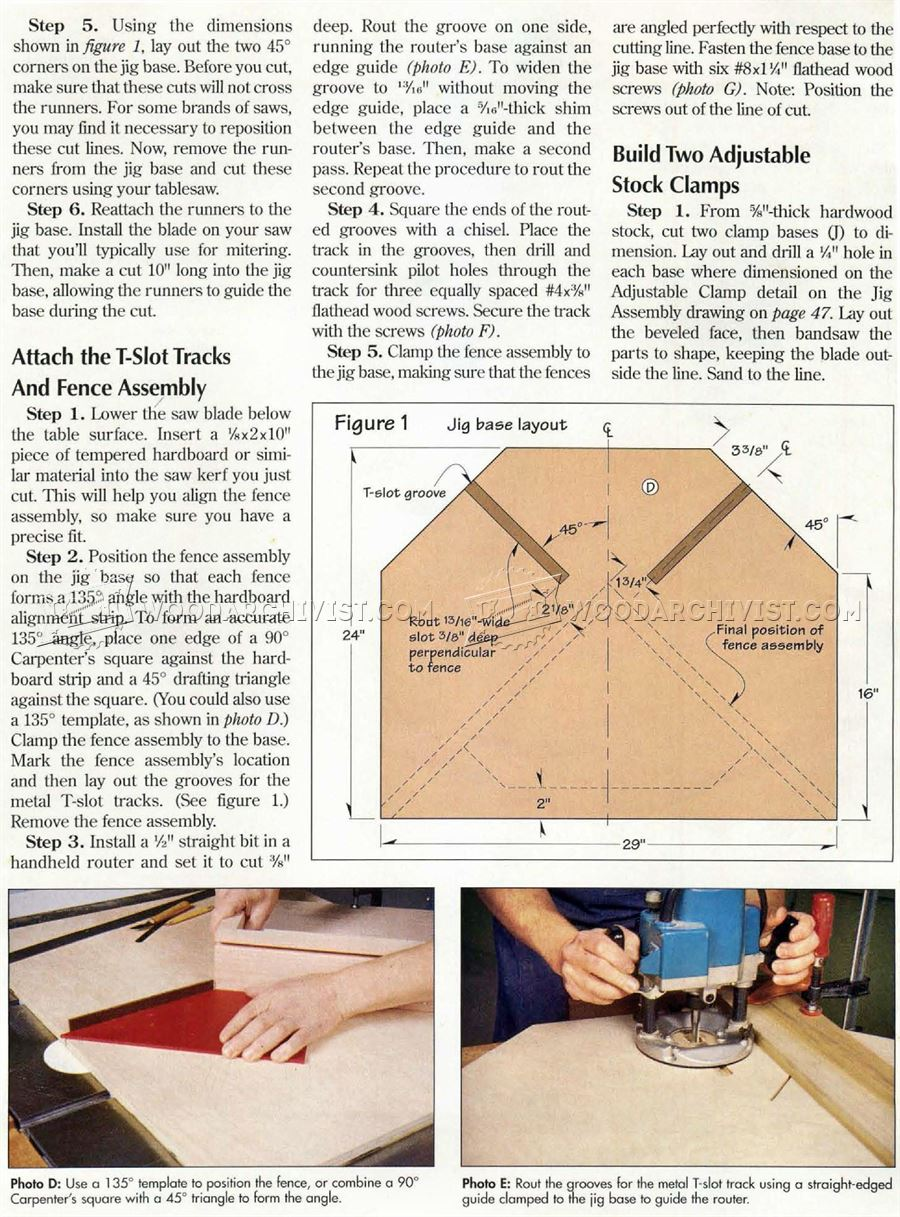 Table Saw Miter Jig Plans