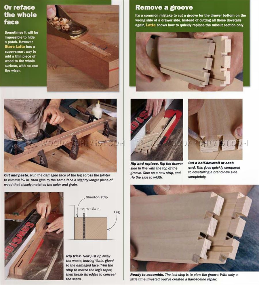 Fixing Woodworking Mistakes