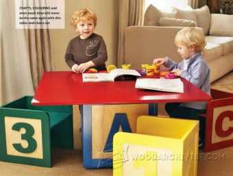 2884-Childrens Table and Chairs Plans