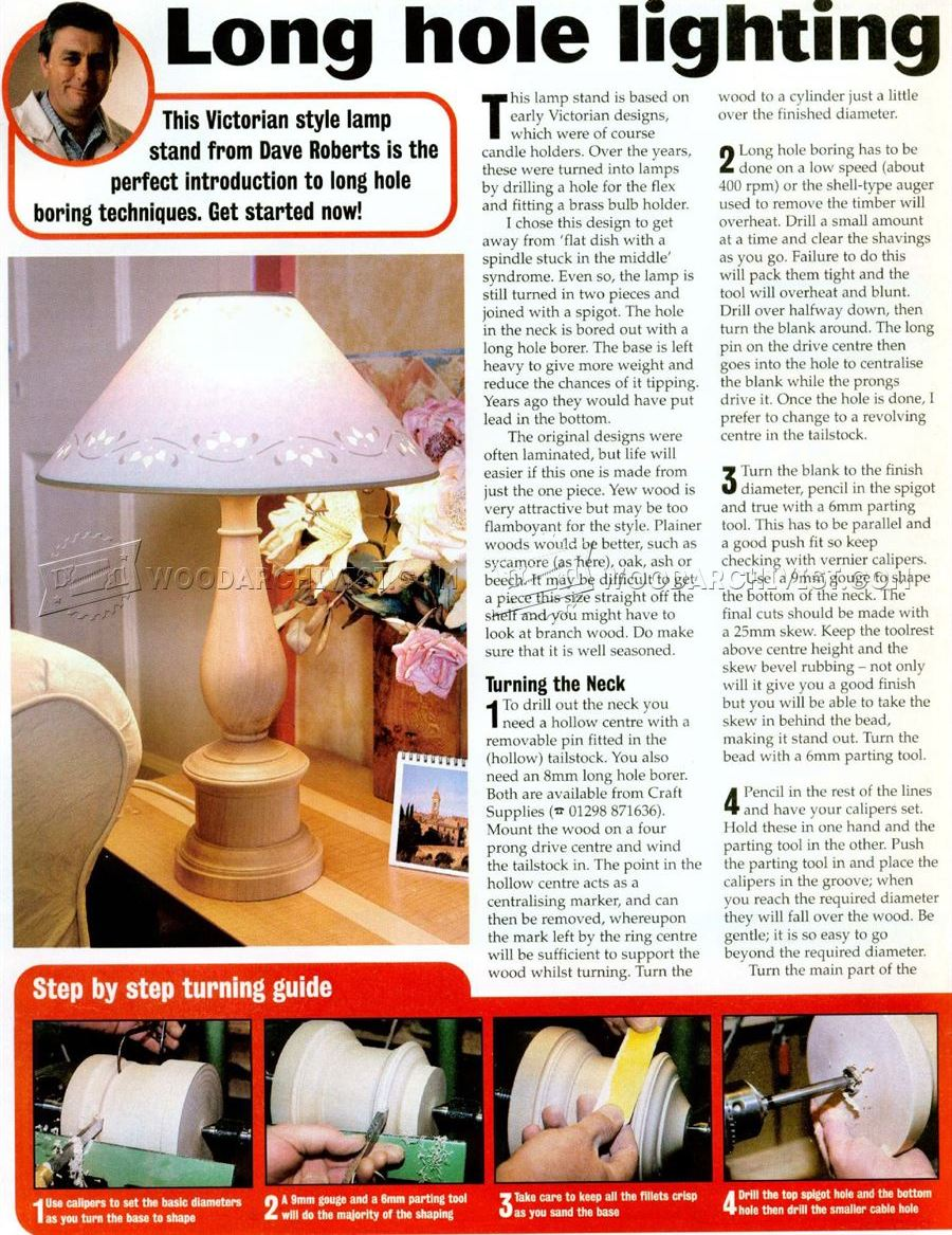 #2891 Woodturning Table Lamp