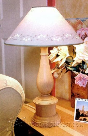 2891-Woodturning  Table Lamp