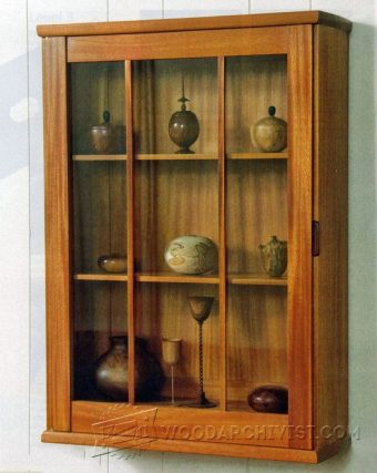 2892-Wall Display Cabinet Plans