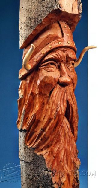 2905-Viking Bark Carving