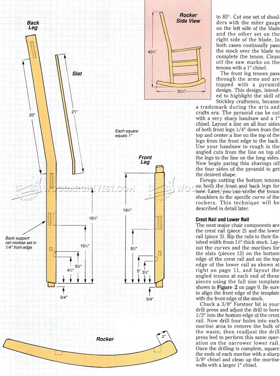 craftsman rocking chair plans woodarchivist pdf diy craftsman furniture plans download corner shelves