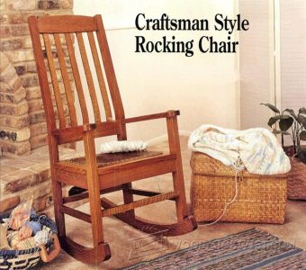 2907-Craftsman Rocking Chair Plans