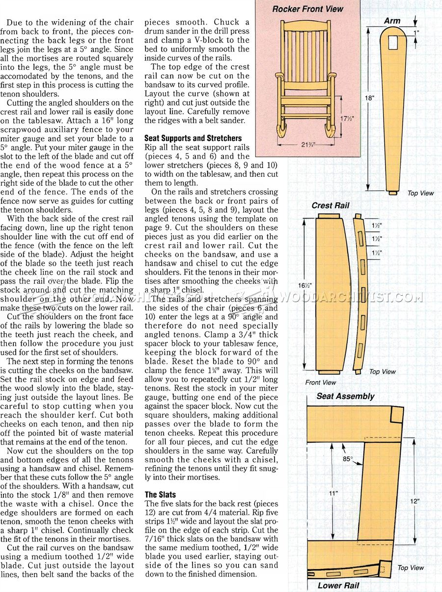 craftsman rocking chair plans woodarchivist woodworking plans craftsman furniture kits pdf plans