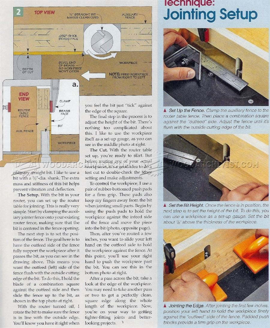 Router Table Edge Jointing