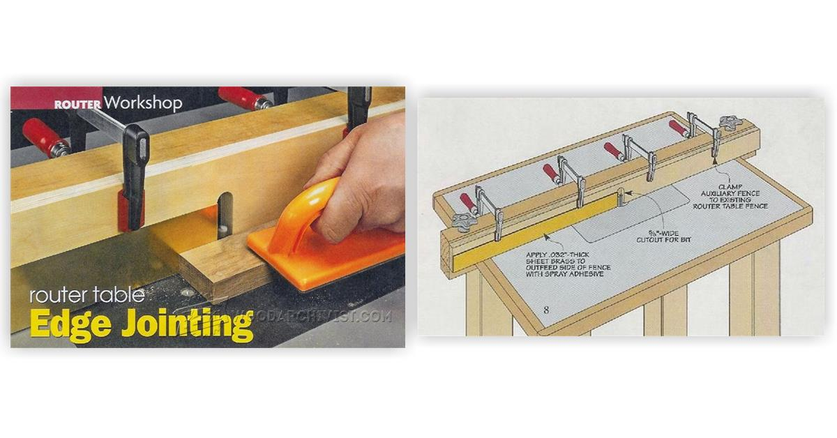 Router Table Edge Jointing Woodarchivist