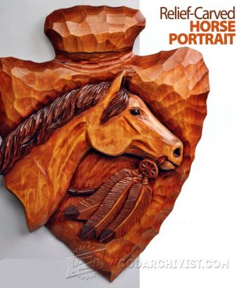 2916-Horse Portrait - Relief Carving Patterns