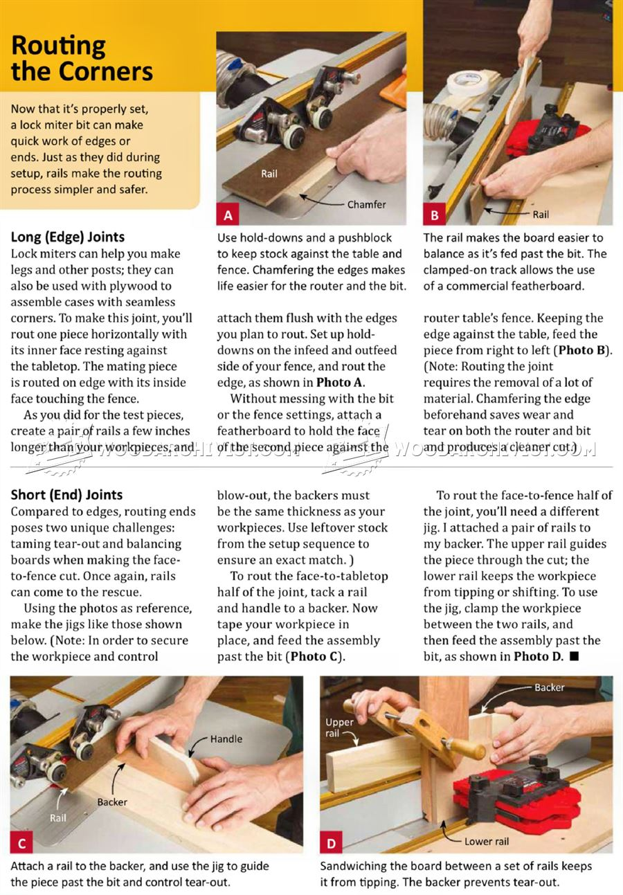 Lock Miter Joint Techniques Woodarchivist