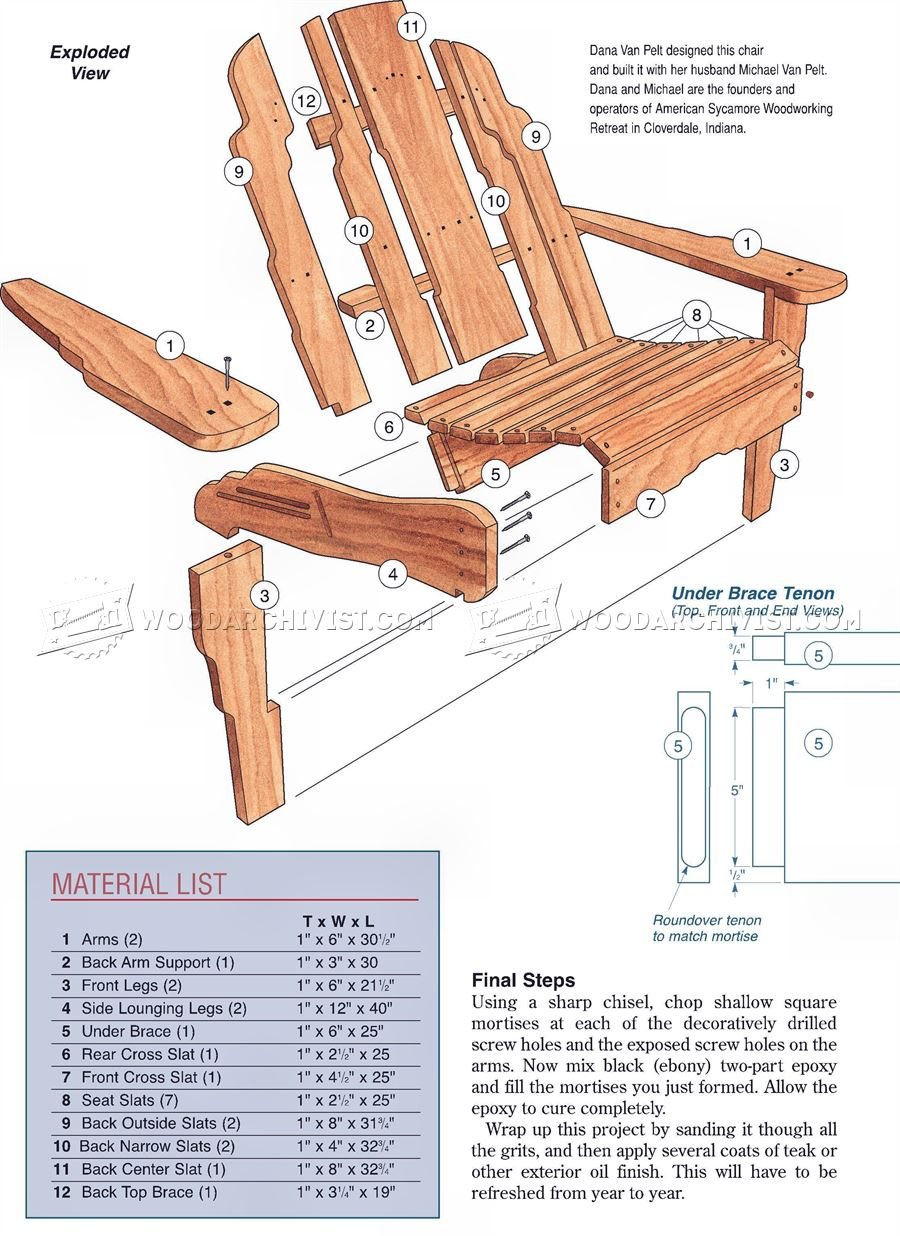 Build Adirondack Chair