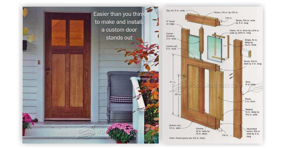 How to build exterior door home design for Design your own front door