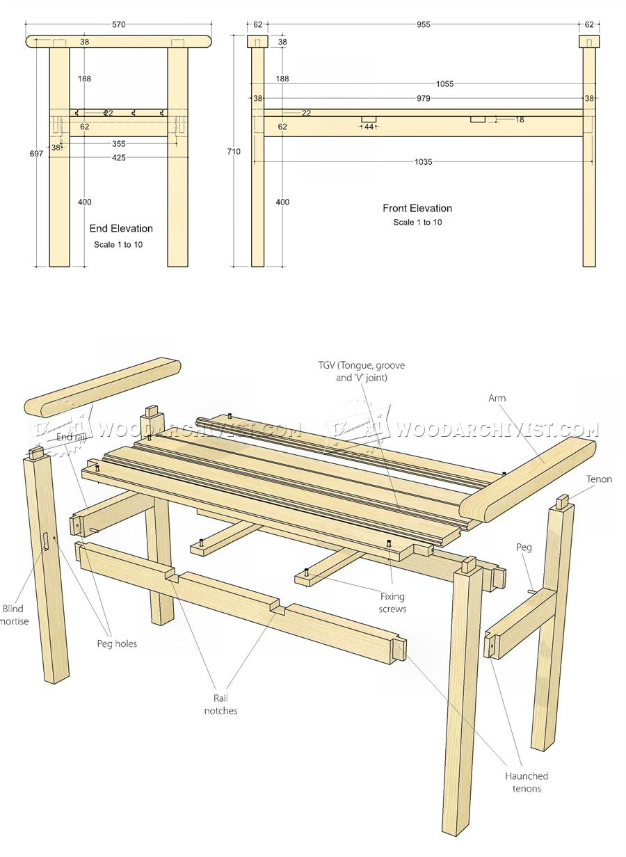 Backless Bench Plans