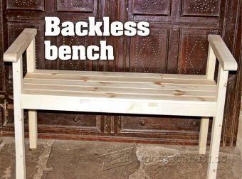 2928-Backless Bench Plans