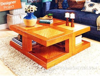 2929-Modular Coffee Table Plans