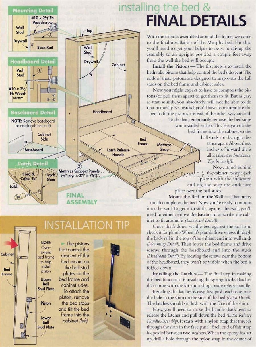 Murphy Bed Plans • WoodArchivist