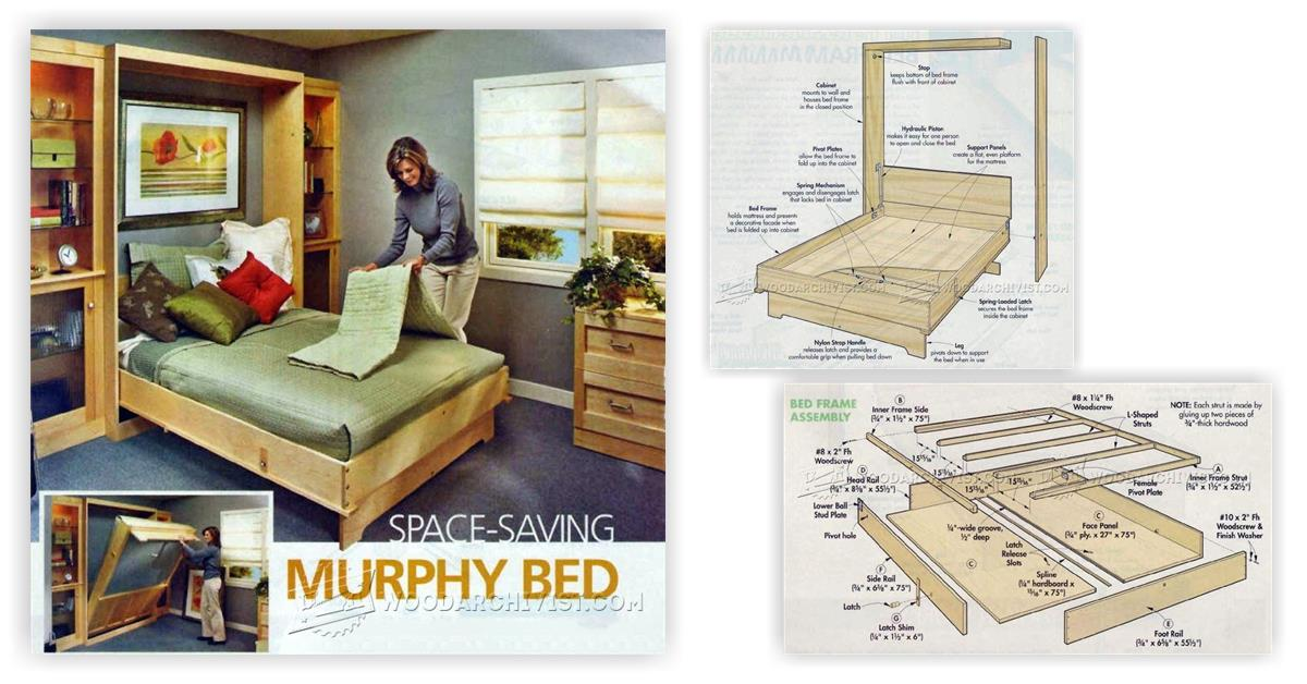 woodworking plans bed storage | Handmade Furniture Plans