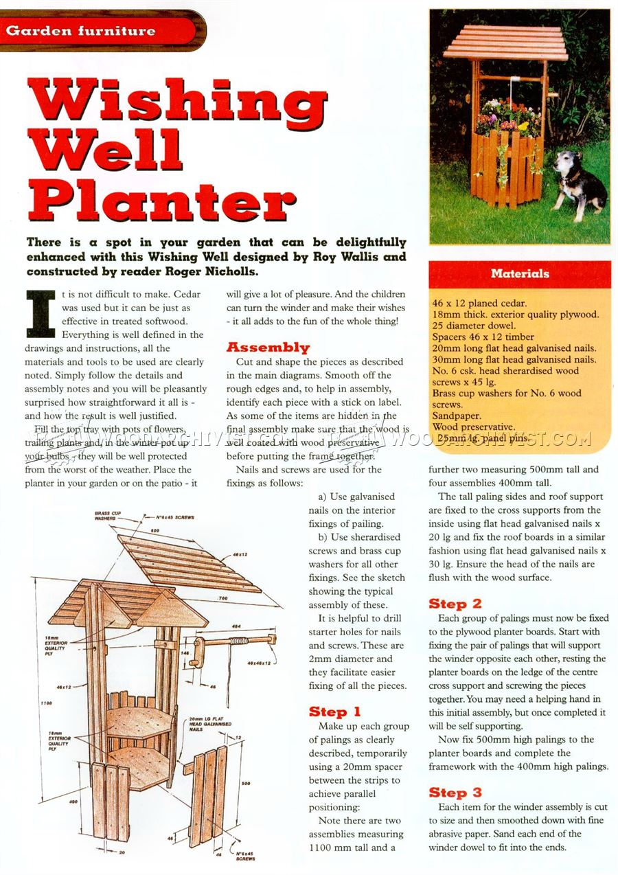 Wishing Well Planter Plans
