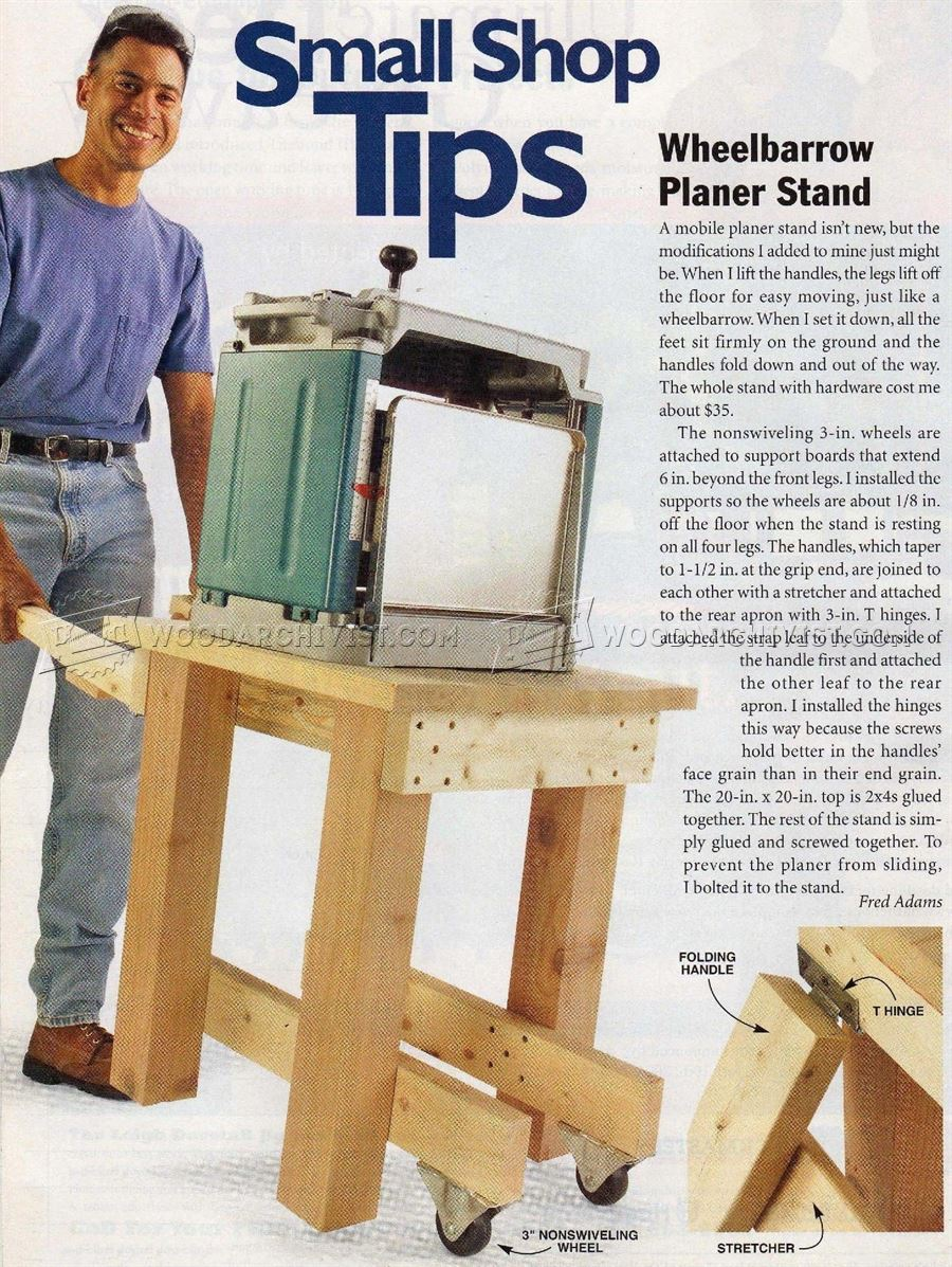 #2934 Portable Planer Stand Plans