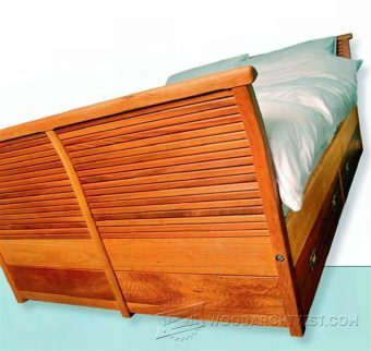 2935-Sleigh Bed  Plans