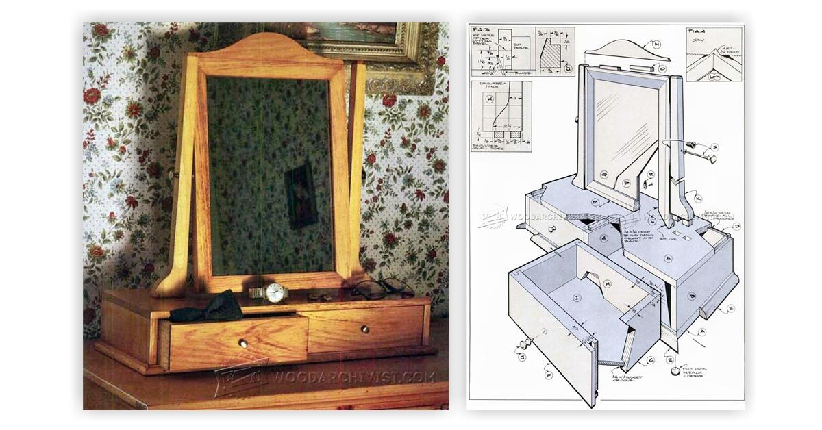 pine vanity plans woodarchivist