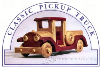 2938-Wooden Toy Pickup Truck  Plans