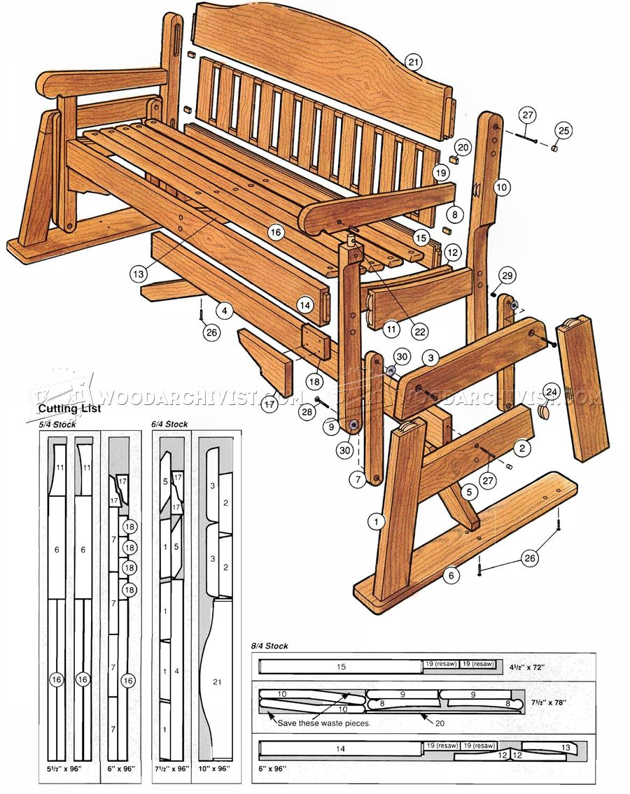 Glider Plans in addition Wooden Glider Rocker Plans as well Build Wood ...